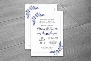 20 engagement invitation template word indesign and psd With wedding invitations indesign template free