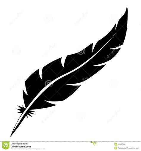 plume d oiseau dessin forme de plume d oiseau illustration de vecteur