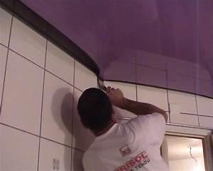 comment coller de la toile de verre sur le plafond With peindre un plafond tendu