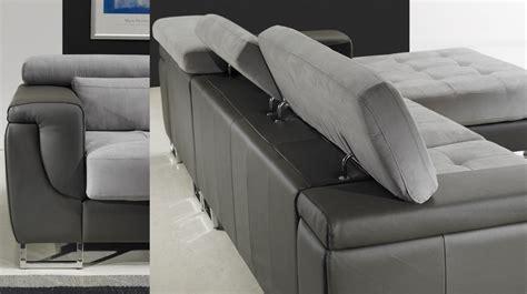 canape pas cher en cuir canapé d 39 angle gauche cuir microfibre gris pas cher