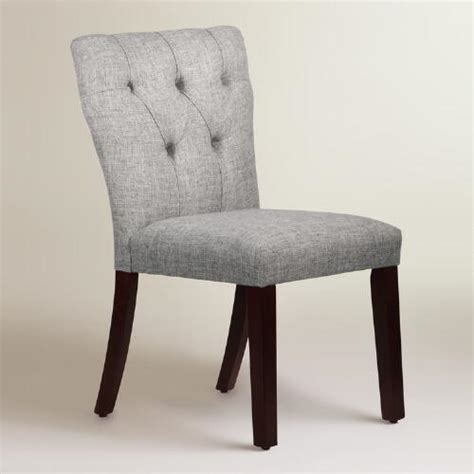 linen blend tufted gabie dining chair world market