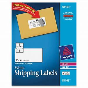 avery 18163 laser inkjet printer shipping labels permanent With avery large shipping labels