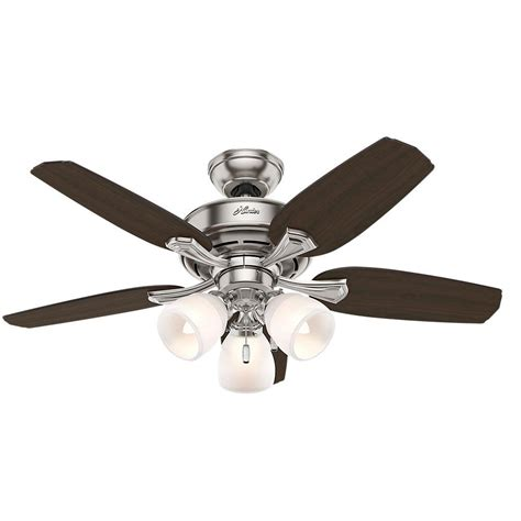 hunter channing ceiling fan hunter channing 44 in indoor brushed nickel ceiling fan