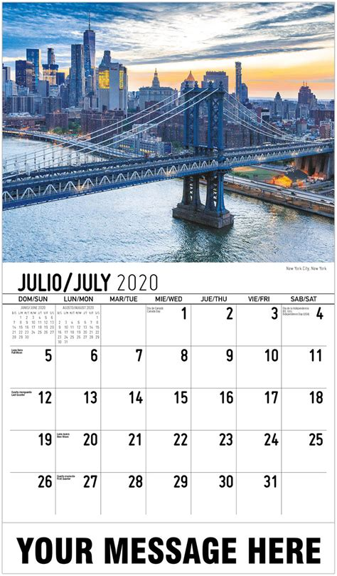 business promotion calendars spanish english america pintoresca