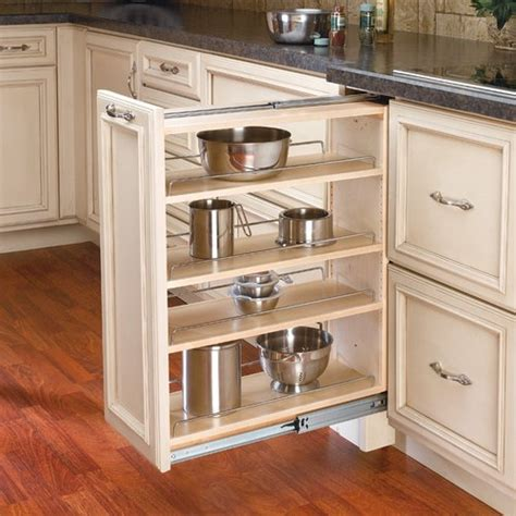 kitchen base cabinet organizers rev a shelf 432 base filler 9 quot wood 432 bf 9c 5106