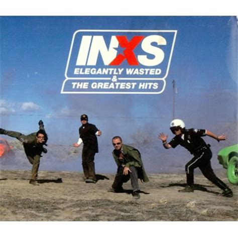 inxs greatest hits album cover inxs elegently wasted the greatest hits japanese promo