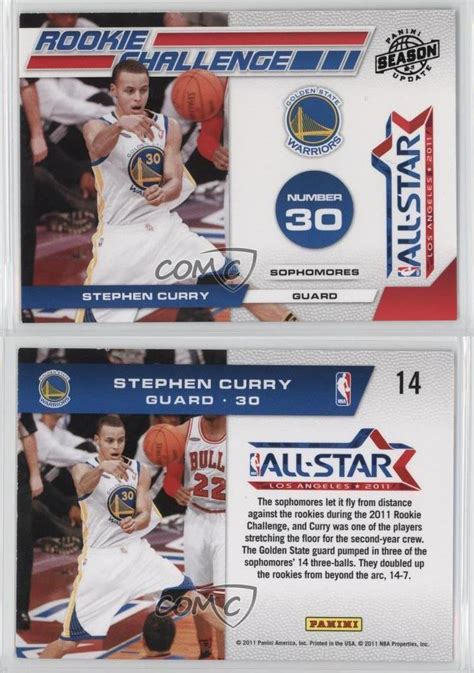 Maybe you would like to learn more about one of these? 2010-11 Panini Season Update Rookie Challenge #14 Stephen Curry Basketball Card   eBay