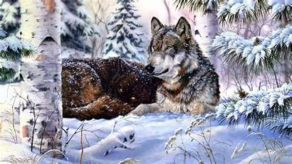 Wolf Snow Windows Wolves Howling Getwallpapers