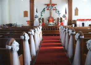pew bows wedding decoration ideas for church a trusted wedding