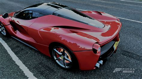 Forza horizon 4 is no different and expected to bring a comparably large collection of wheels onto the vast uk roads. Forza Horizon 4, Ferrari, red, car, video games, Ferrari LaFerrari, high angle   1920x1080 ...