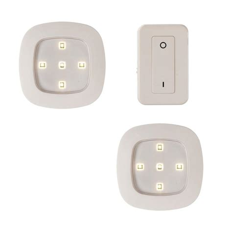 light it white wireless remote led puck lighting