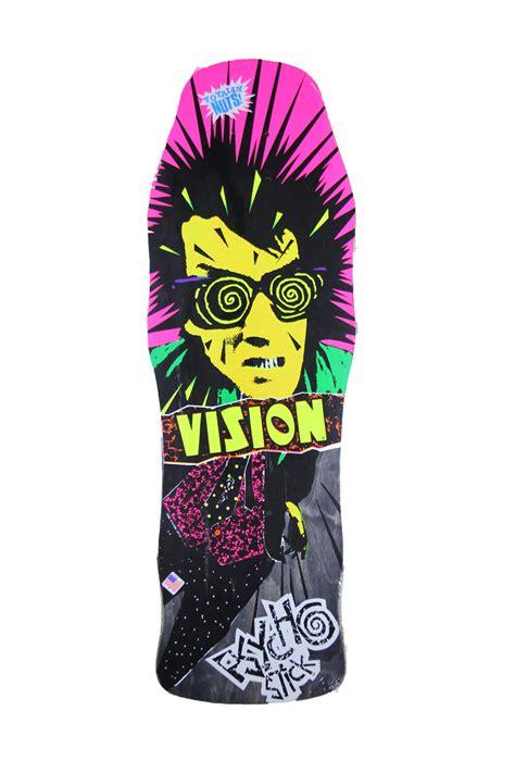 vision psycho stick grey stain deck street skate shop