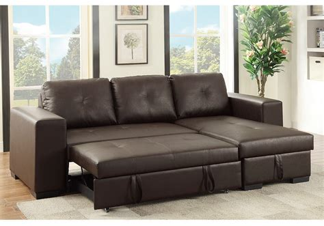 bed settee with storage small sectional sofa reversible storage chaise pull