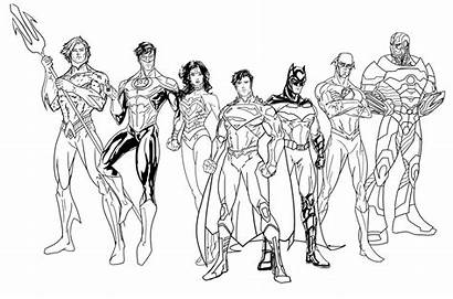 Justice League Coloring Pages Characters