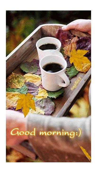 Morning Coffee Wednesday Happy Autumn Sunday Leaves