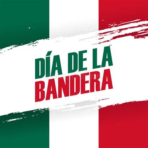 dia de la bandera mexico flag day banner 24th february stock vector illustration of