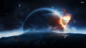 Planet Collision Wallpaper