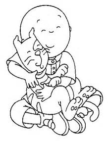 Caillou Printable Coloring Pages
