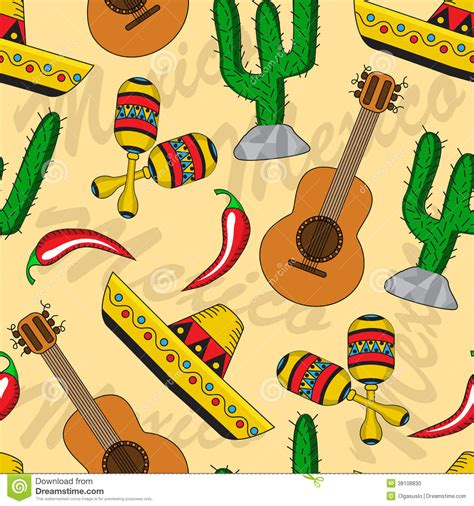 mexican seamless background stock vector image