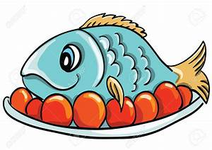 Seafood clipart plate food - Pencil and in color seafood ...