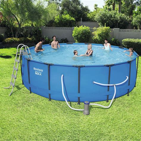 bestway  ft    deep steel pro swimming pool