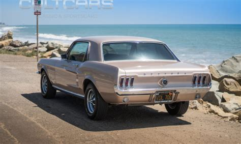 ford mustang coupe rare color beige mist cultcars