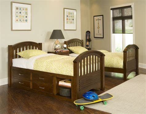 Contemporary Children Twin Beds With Storage Homesfeed