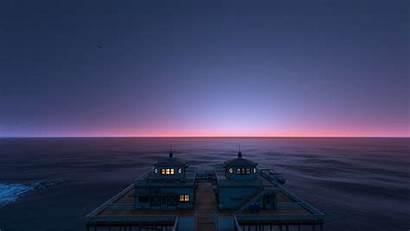 Sunset Sky Gta5 Clear Sea Games Pier
