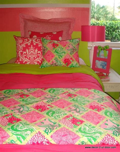 Lilly Pulitzer Bed Spread by Preppy Room Bedding Set Custom Lilly Pulitzer Lilly