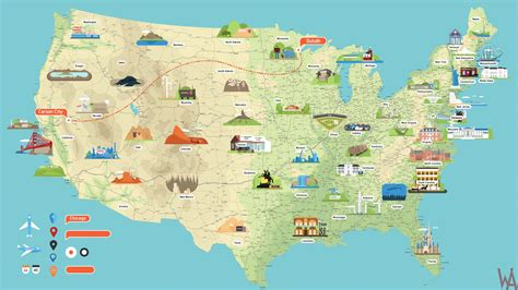 tourist maps   usa whatsanswer