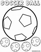 Ball Soccer Coloring Pages Soccerball Colorings sketch template