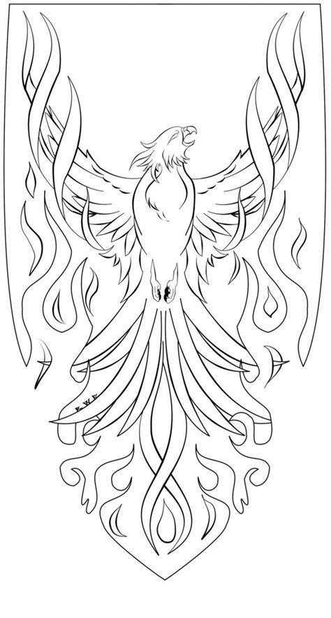 phoenix tattoo design coloring pages bird drawings pictures  phoenix
