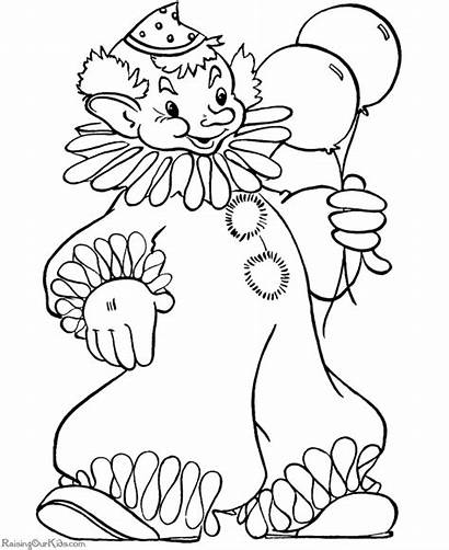 Coloring Pages Clown Printable Halloween Clowns Happy