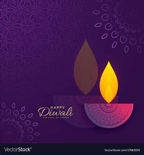 diwali greeting card design  creative diya vector image