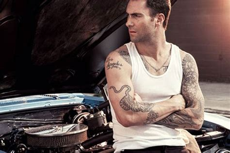 Celeb Diary Adam Levine In Revista Inked Septembrie