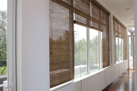 light shade bamboo blinds