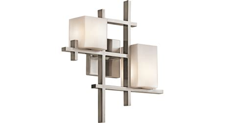 elstead kichler city lights 2 light wall light classic