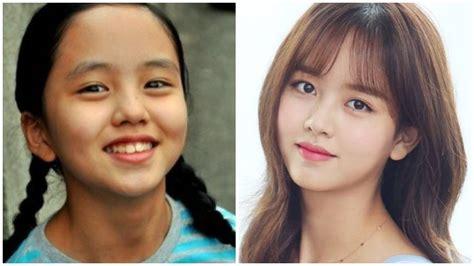 lihat wajah  kecil  artis korea  beda banget