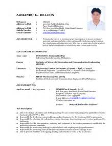 CV Format Latest Sample Resume
