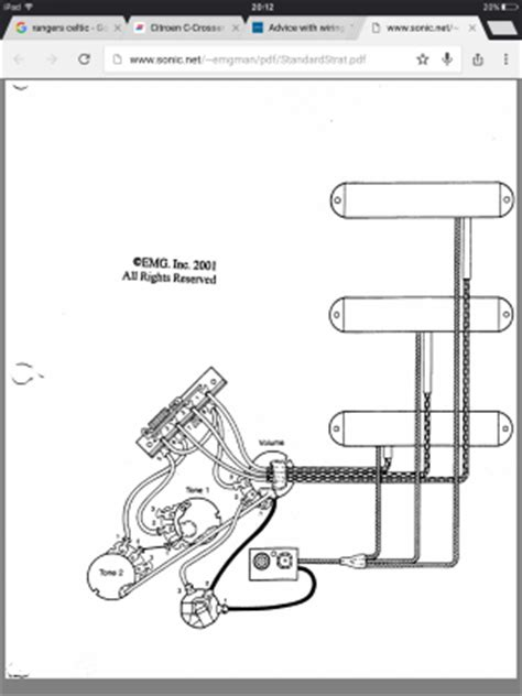 Advice With Wiring For Old Style Emg Set Fender