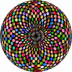 Clipart - Psychedelic Chromatic Disco Ball