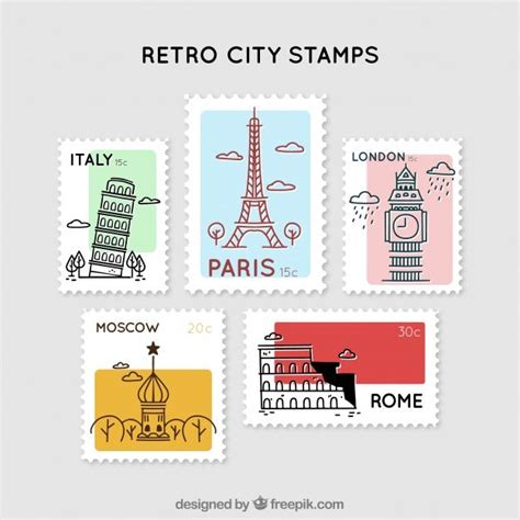collection   city stamps