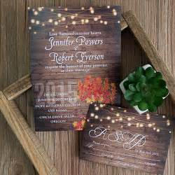 cheap make your own wedding invitations cheap rustic wooden string light jar fall wedding invites ewi395 as low as 0 94