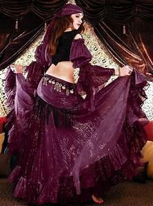 Cotton Lurex Tribal Gypsy Belly Dance Costume - Skirt ...