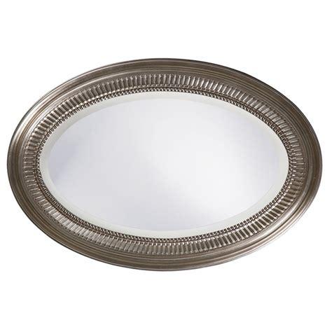 brushed nickel mirror ethan oval brushed nickel mirror uvhe21116
