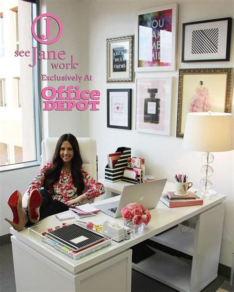 How To Decorate Office - the sorority secrets workspace chic with office depot see