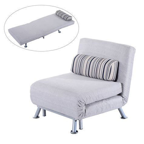 futon single bed chair homcom fold out futon single sofa bed