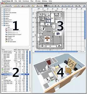 Sweet Home 3d En Ligne : logiciel gratuit 3d maison free dans une trentaine de ~ Premium-room.com Idées de Décoration