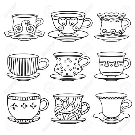 tea cup cartoon images coloring pages pinterest cartoon images tea cup  cartoon
