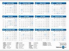 Kalender 2050